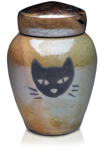 урна для праха с мордочкой кошки