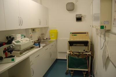лаборатория по обработке анализов